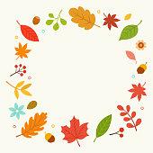 autumn,wreath,nature,leaf,acorn,maple,forest,tree,season,flower,decoration,icon,design,element