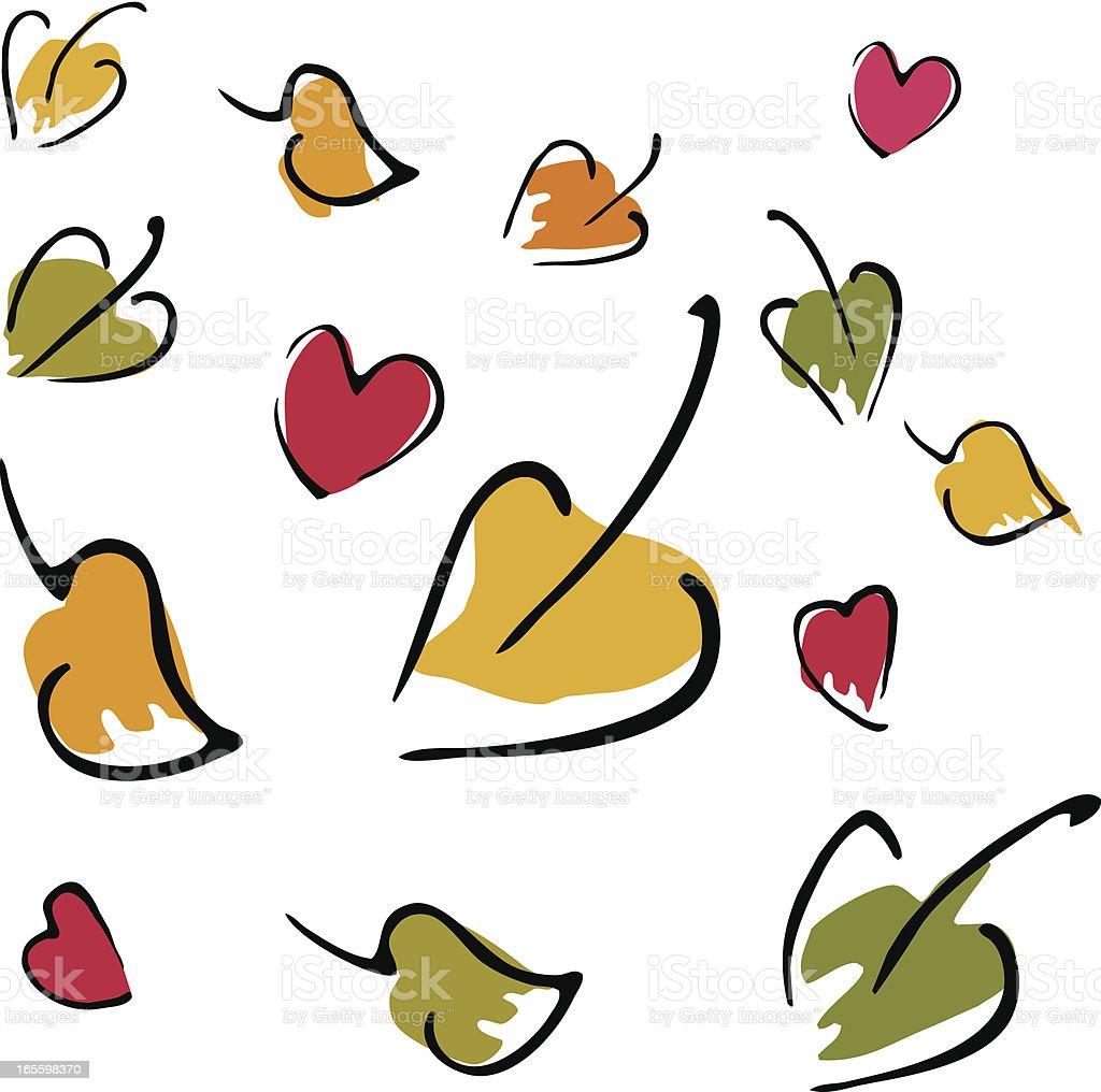 Otoño love ilustración de otoño love y más banco de imágenes de amarillo - color libre de derechos