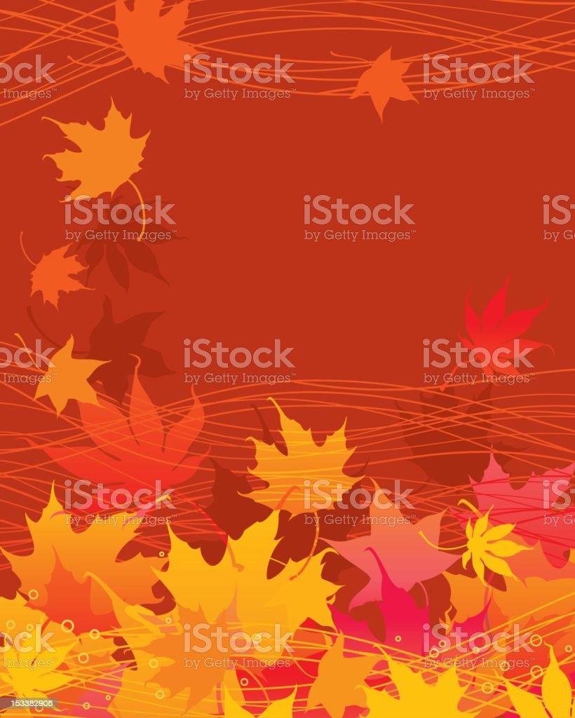 Autumn Maple Background royalty-free stock vector art
