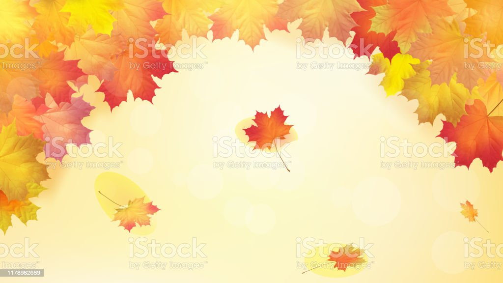 Autumn Maple Leafs On Autumn Background Vector Stock Illustration Download Image Now Istock
