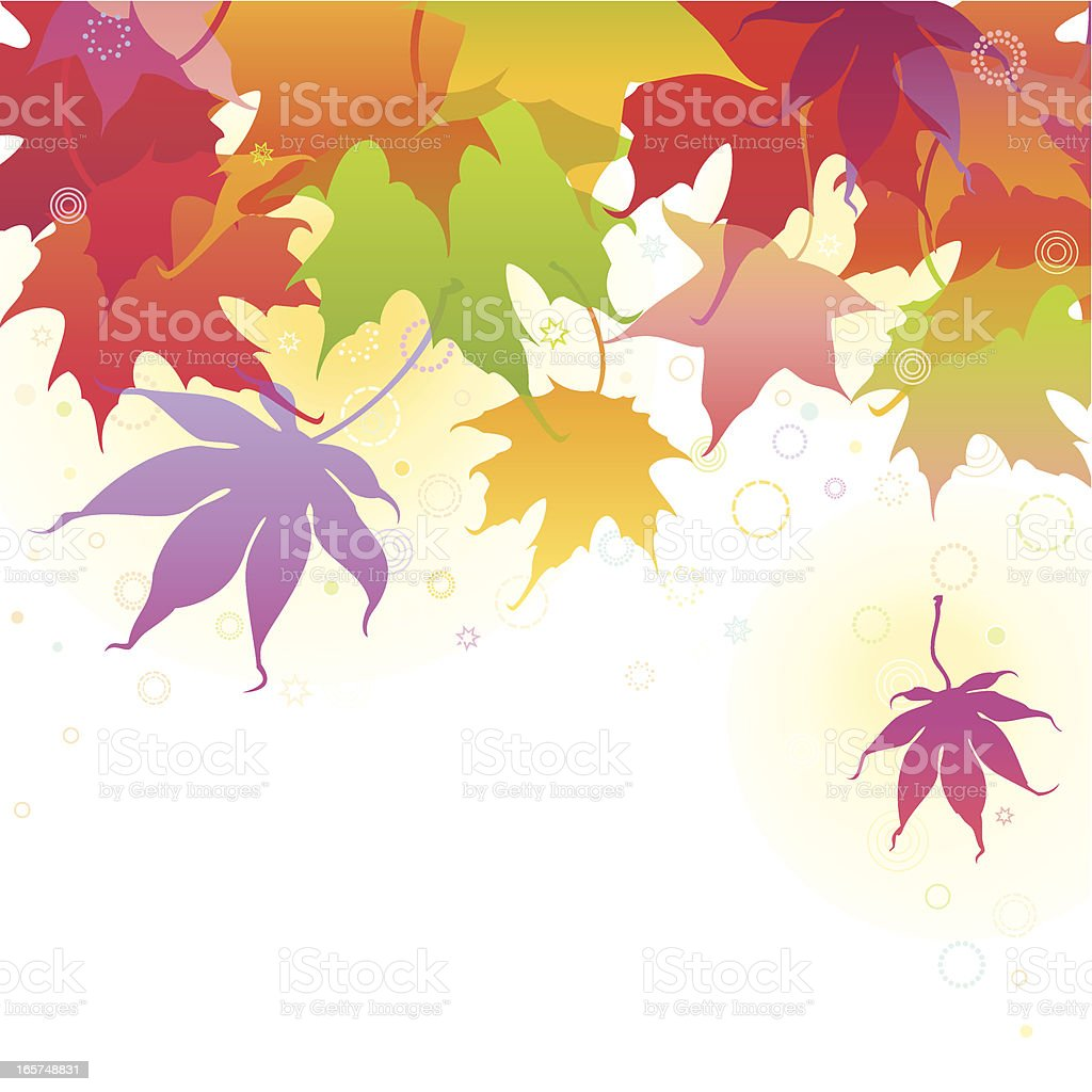 Autumn Maple Leaves Background royalty-free autumn maple leaves background stock vector art & more images of abstract