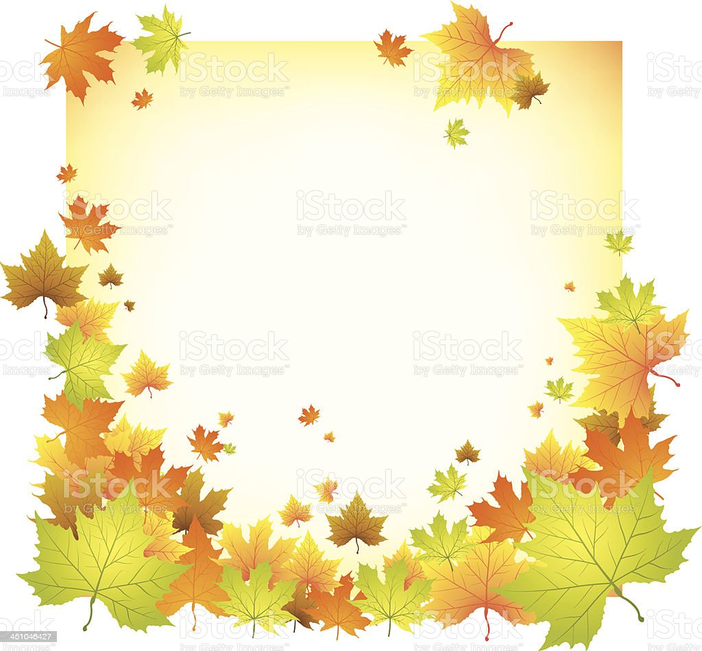 Autumn maple leaves background royalty-free stock vector art
