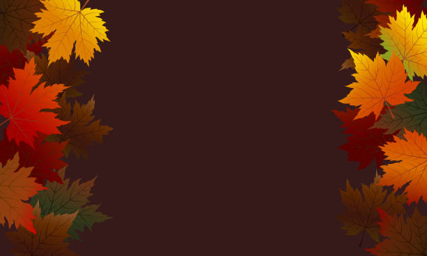 Autumn maple leaves on brown background with copy space vector illustration Autumn maple leaves on brown background with copy space vector illustration fall background stock illustrations