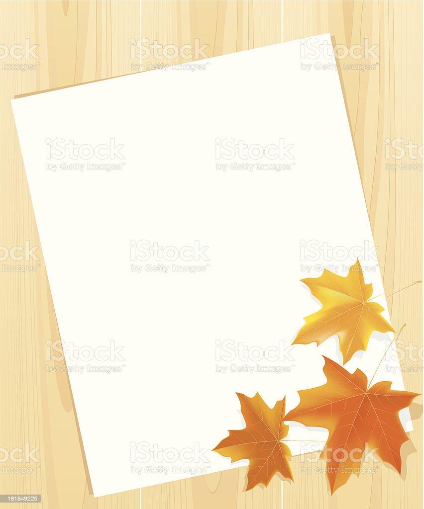 Autumn message royalty-free stock vector art