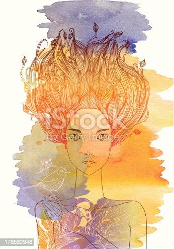 istock Autumn mood girl 176532948