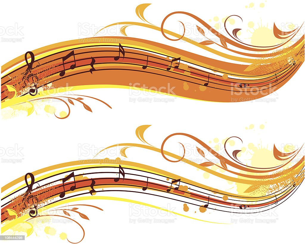 autumn musical banner royalty-free stock vector art