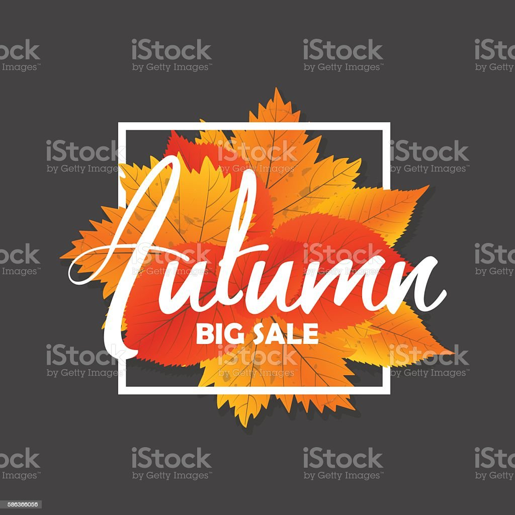 Autumn new season of sales and discounts, deals and offer. - illustrazione arte vettoriale