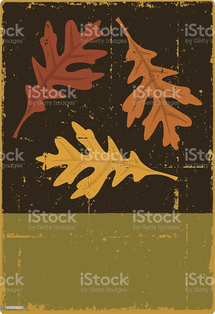 Autumn Oak Leaf Sign royalty-free stock vector art