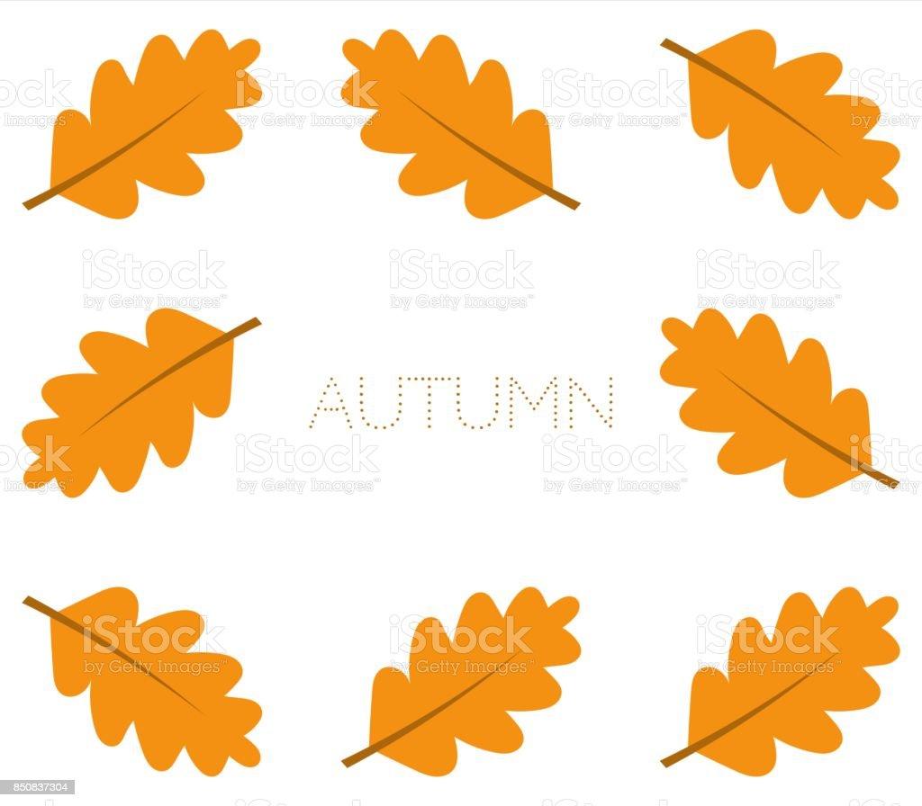 autumn oak leaves border stock vector art 850837304 istock rh istockphoto com oak leaf frame vector