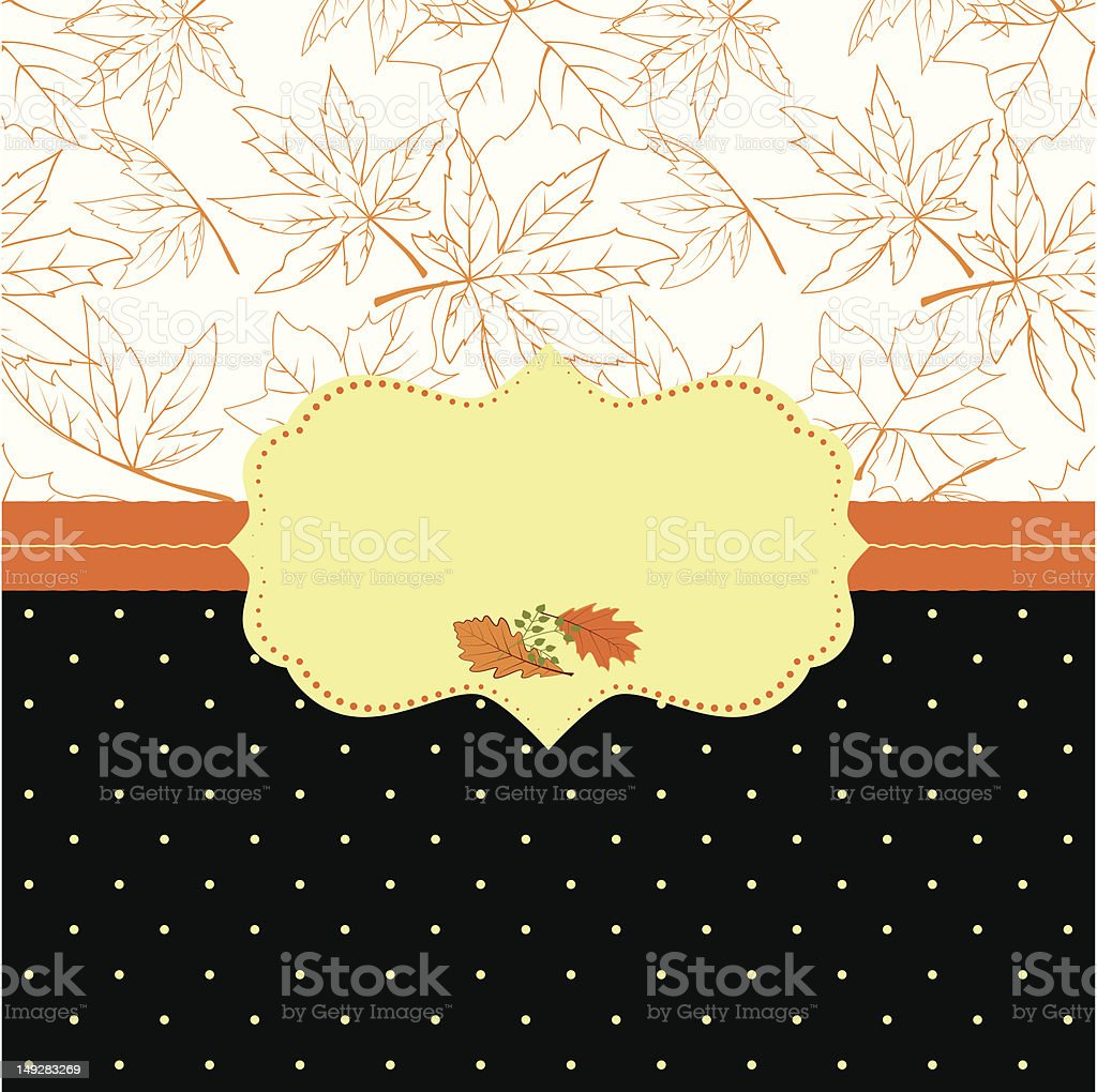 Autumn ornate frame greeting card royalty-free stock vector art