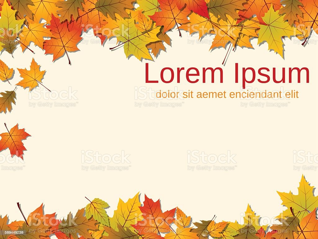 Autumn paper background vector art illustration