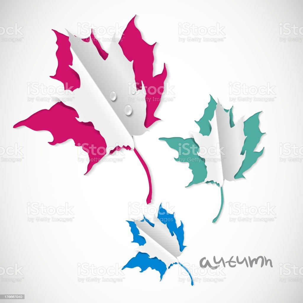 Fondo de otoño con hojas de papel ilustración de fondo de otoño con hojas de papel y más banco de imágenes de abstracto libre de derechos