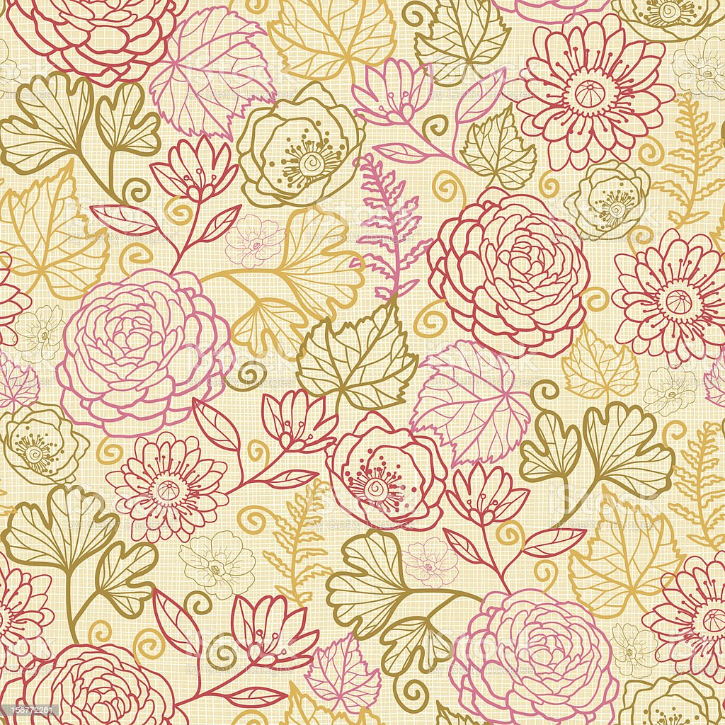 Autumn Plants Fabric Texture Seamless Pattern Stock Vector Art ... for seamless floral fabric textures  539wja