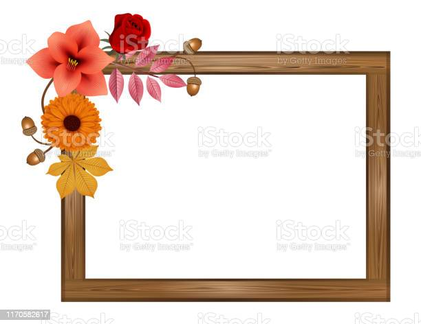 Autumn rectangular wooden frame with flowers and leaves vector id1170582617?b=1&k=6&m=1170582617&s=612x612&h=ohzhtsl4bsm6ryziykyepwsinq26iabsoux2xqbbno0=