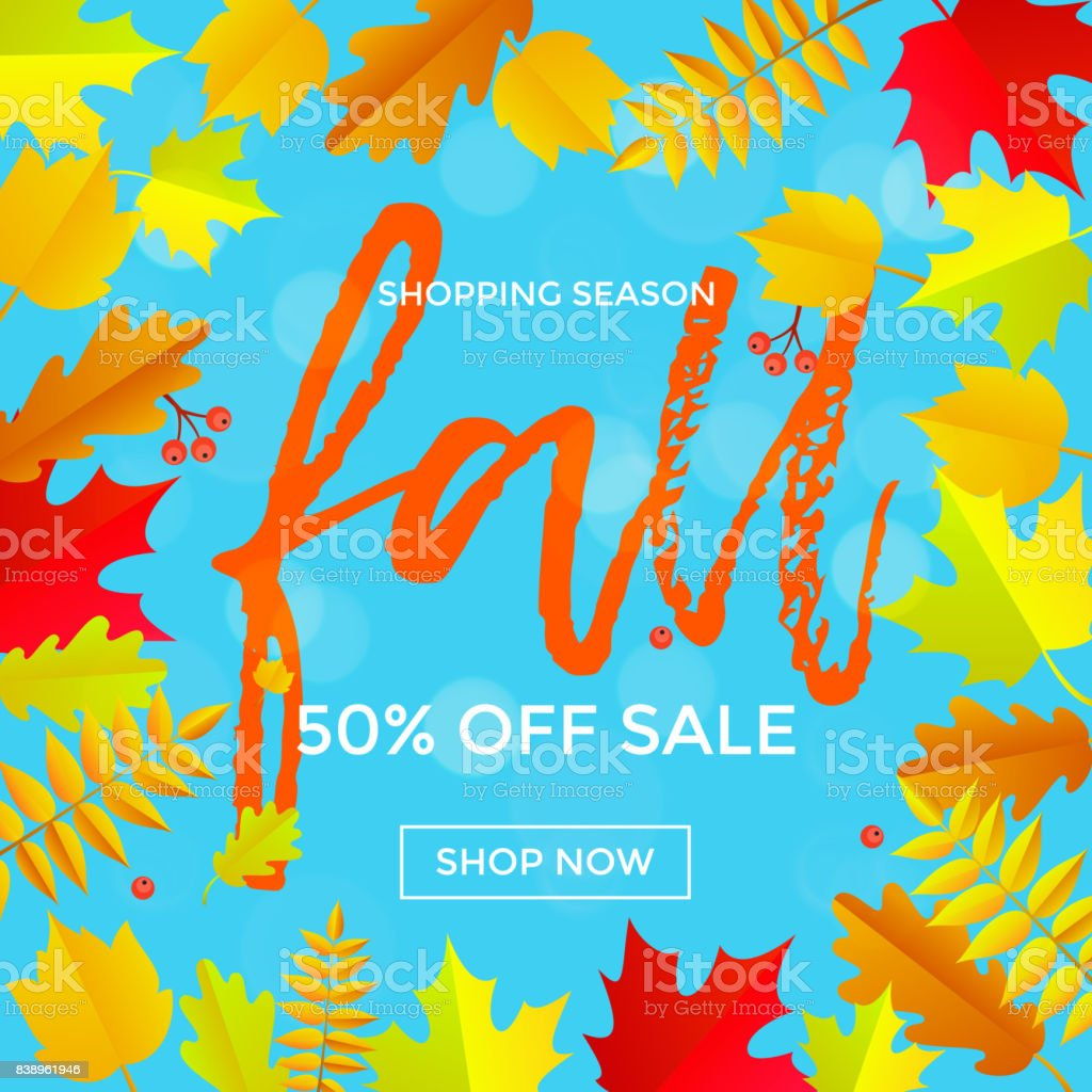 Autumn Sale Banner Discount September Shopping Promo Or
