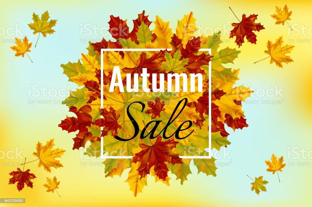 Herbst Sale Banner Vorlage Stock Vektor Art und mehr Bilder von ...