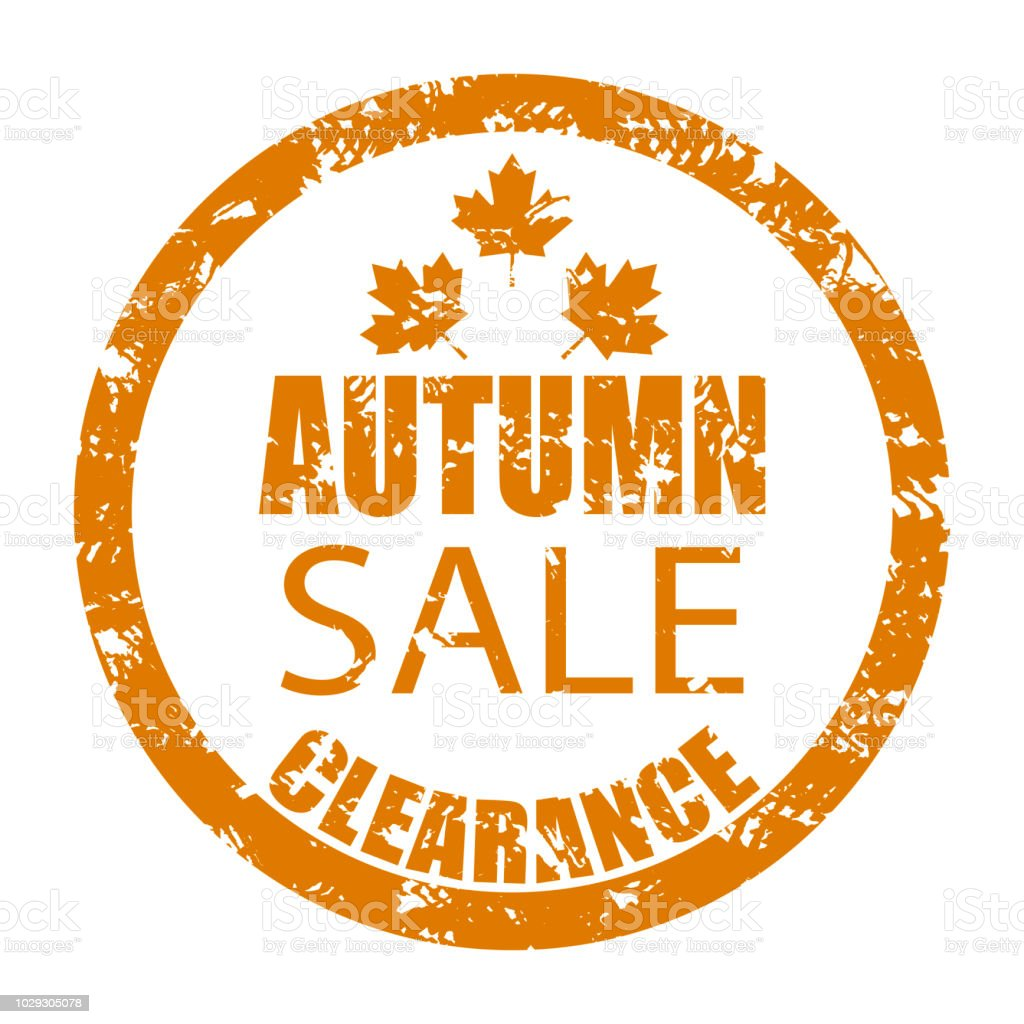 a06e5222508 Autumn Sale Clearance Rubber Stamp Isolated On White Stock Vector ...