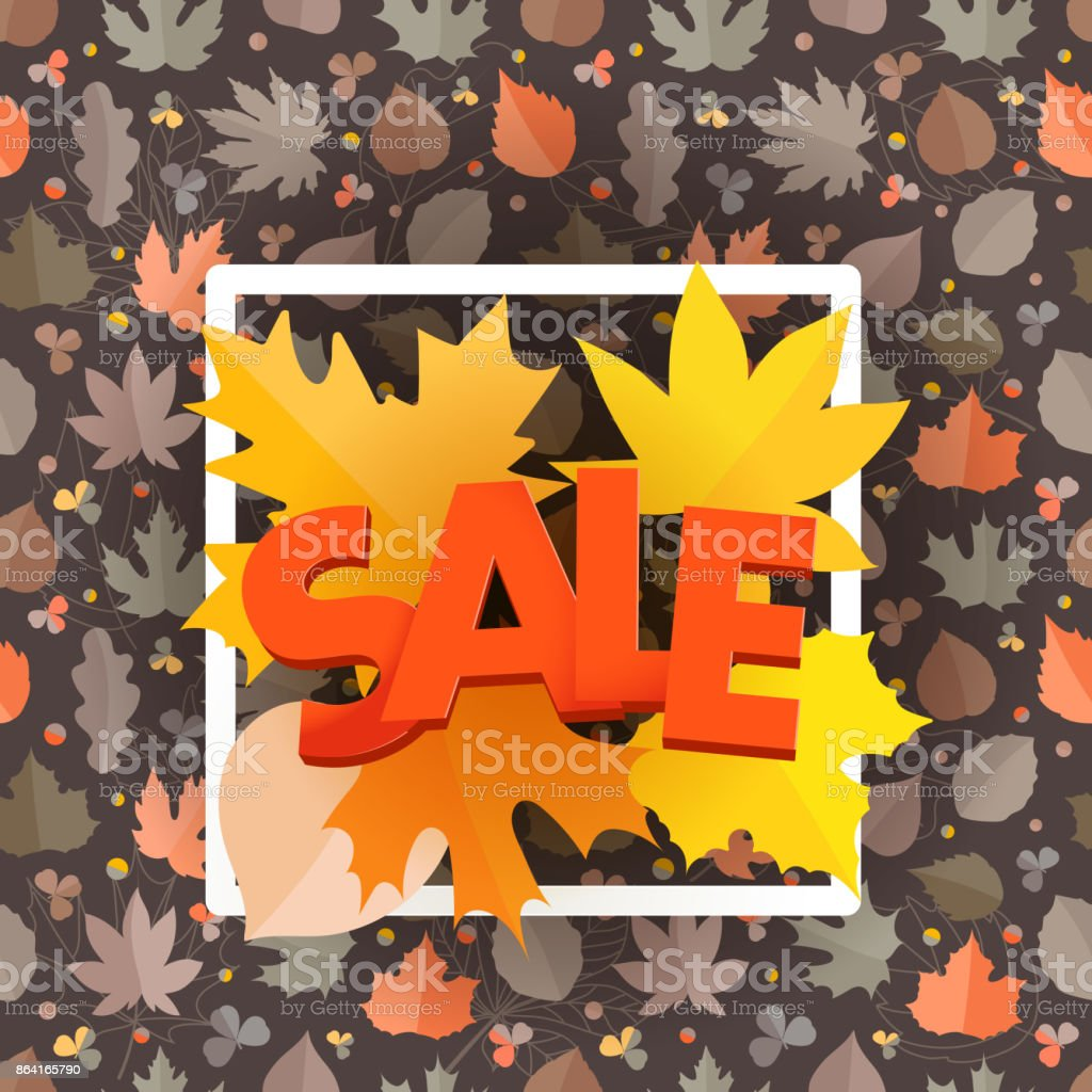 Autumn sale composition with the shopping bag. Autumn card template royalty-free autumn sale composition with the shopping bag autumn card template stock vector art & more images of abstract