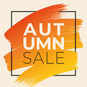 Autumn Sale design for advertising, banners, leaflets and flyers. stock illustration