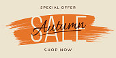 istock Autumn Sale design for advertising, banners, leaflets and flyers. 1271725318