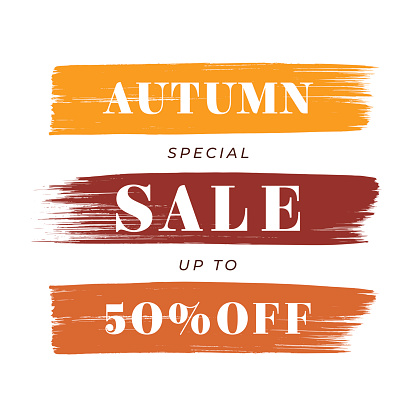 Autumn Sale design for advertising, banners, leaflets and flyers.