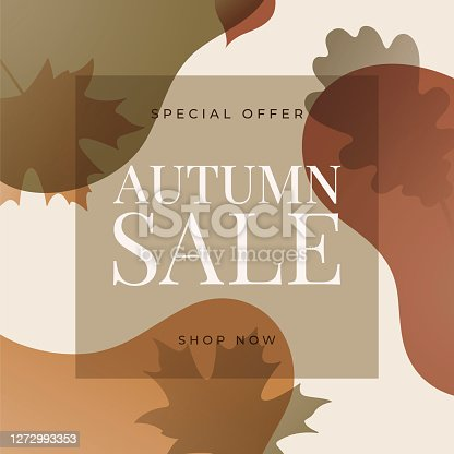 istock Autumn sale design for advertising, banners, leaflets and flyers. 1272993353