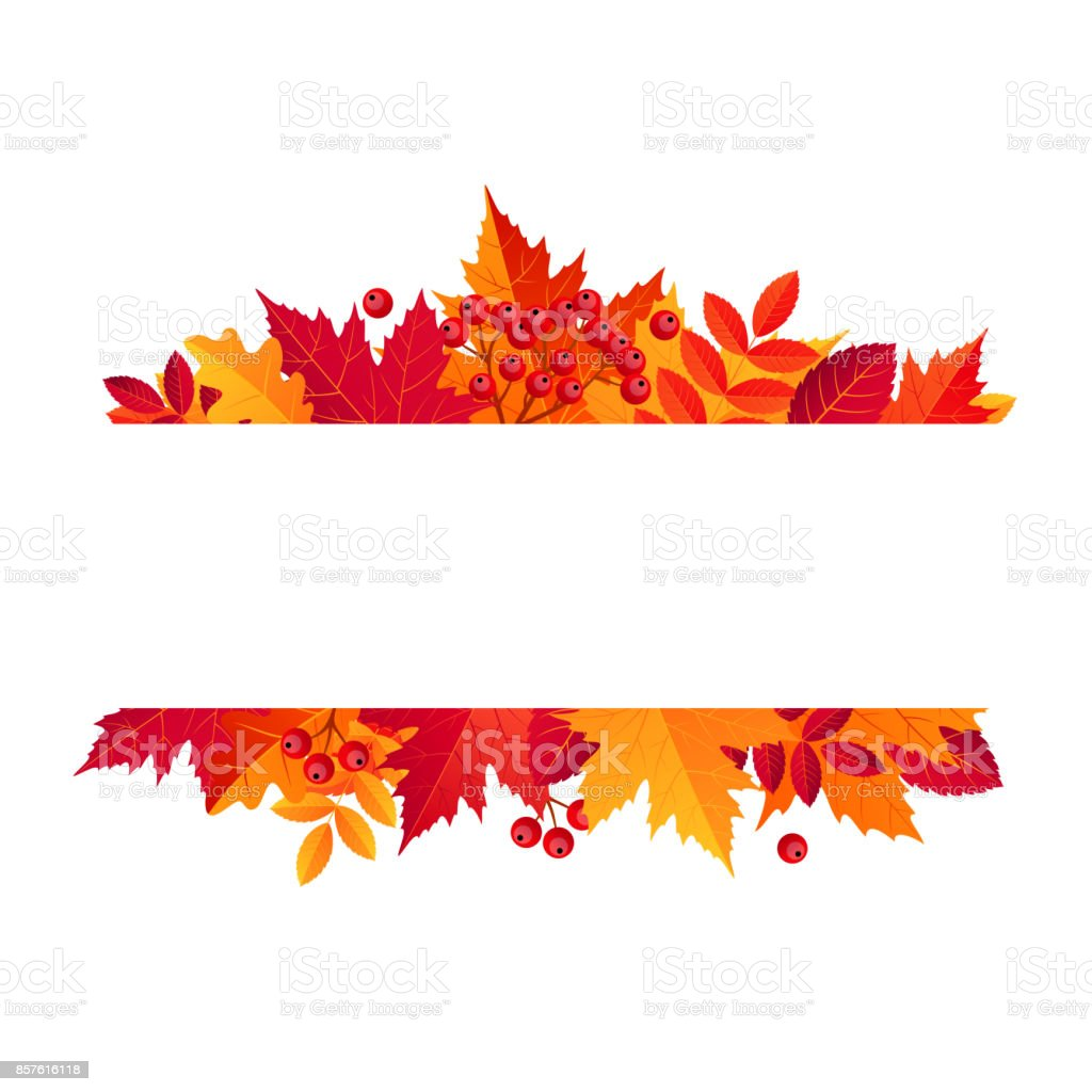 Autumn Sale Horizontal Banner. Vector illustration template