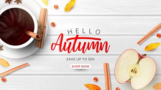 Autumn sale promo banner