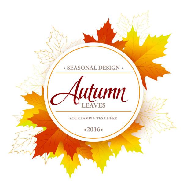 Autumn sale seasonal banner or poster design - Illustration vectorielle