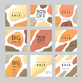 Collection of sale templates for social media, banners and advertising. Editable vectors on layers.