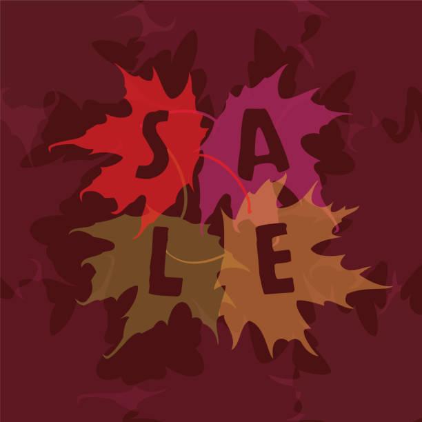 Autumn Sale vector art illustration