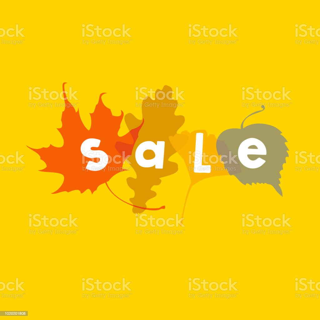 Autumn Sale - Royalty-free Advertisement stock vector