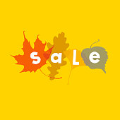 Autumn Sale. Vector illustration.