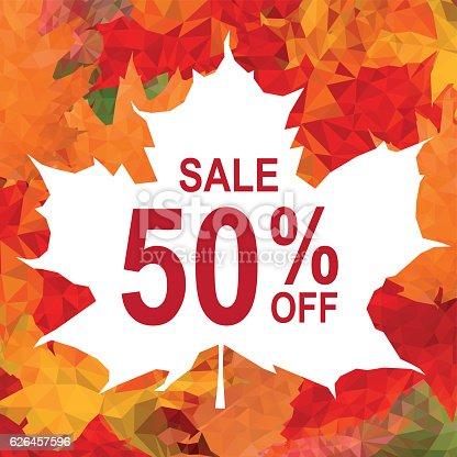 Autumn Sale. Vector Graphic. EPS10 and alternate formats (hi-res jpg, png, pdf)