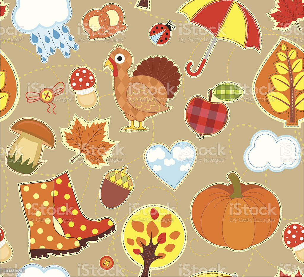 Autumn Seamless Background royalty-free stock vector art