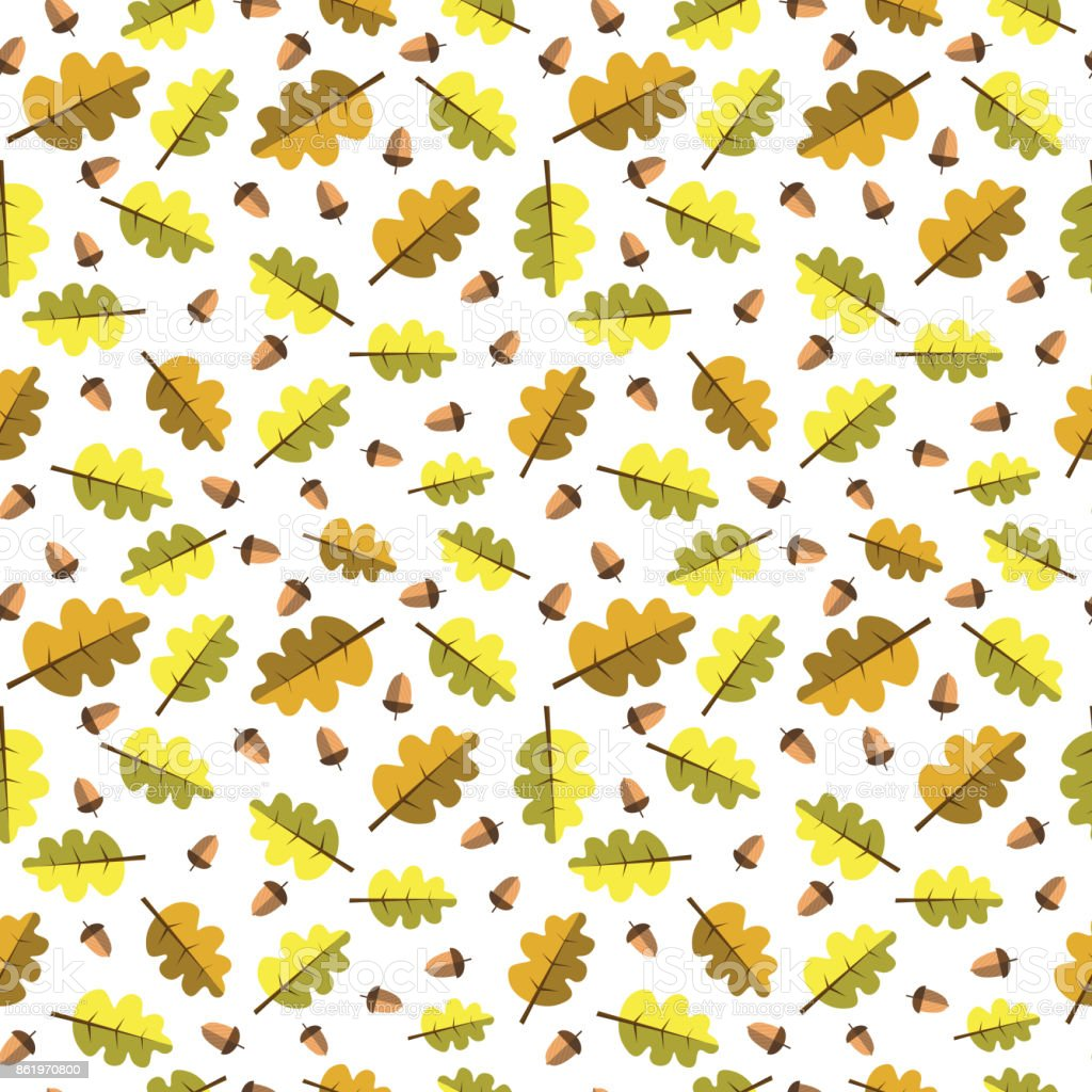 autumn seamless pattern background yellow leaves ornament fall