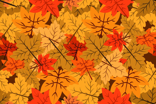 Autumn seamless pattern seamless pattern of autumn vector backgrounds exodus stock illustrations