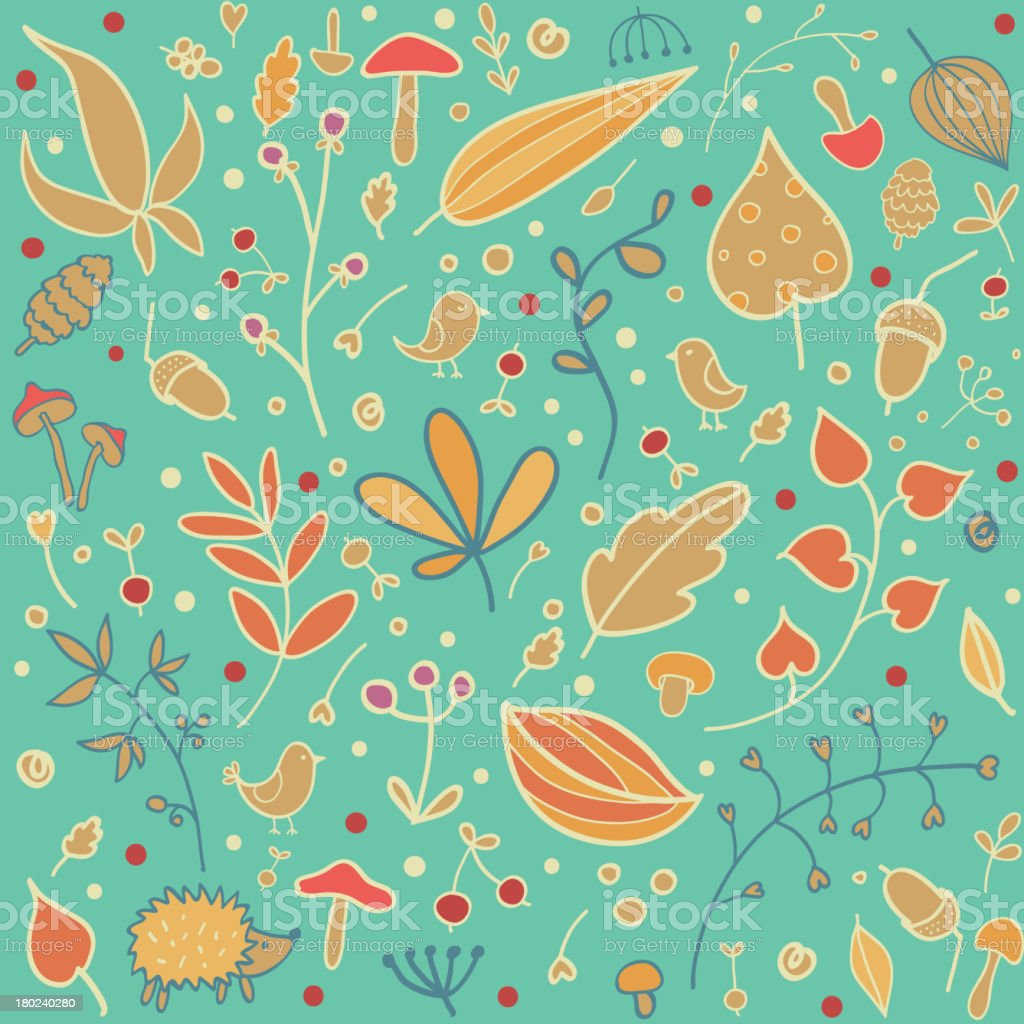 Autumn seamless pattern royalty-free stock vector art