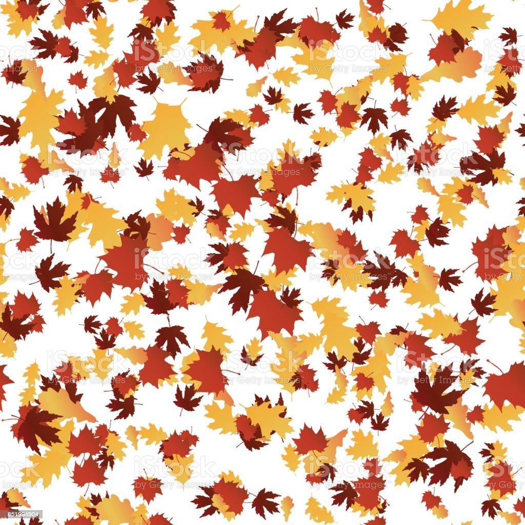 Autumn seamless pattern. Vector illustration. vector art illustration