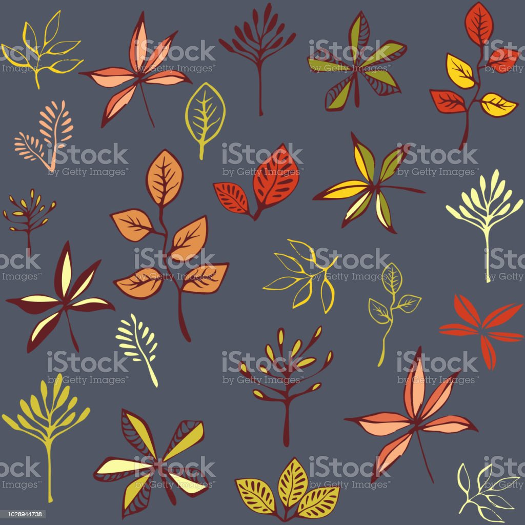 autumn seamless pattern with leaf autumn leaf background abstract