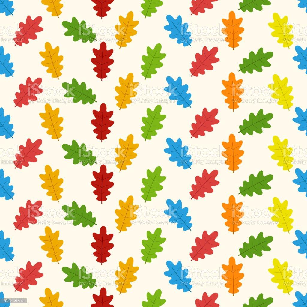 Herbst Nahtlose Muster Mit Blatt Hintergrund Vektor Helle Muster