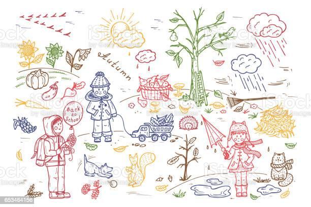 Autumn season children walk on outdoors background for kids hand vector id653464156?b=1&k=6&m=653464156&s=612x612&h=ucq5ceyh4wt1lzax5vh2gyer4ktvl7ibncoifctasu4=