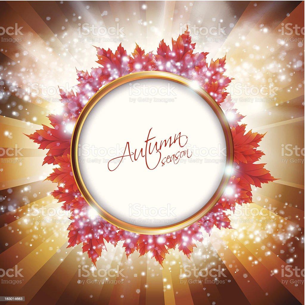 Autumn season sign royalty-free stock vector art