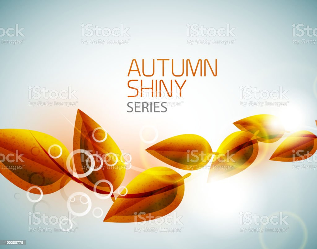 Autumn shiny flying leaves background royalty-free autumn shiny flying leaves background stock vector art & more images of abstract