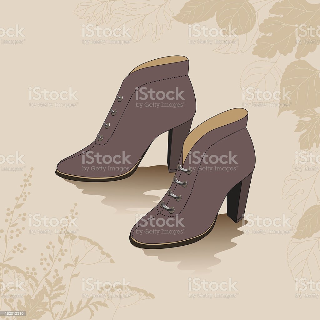 autumn shoes royalty-free stock vector art