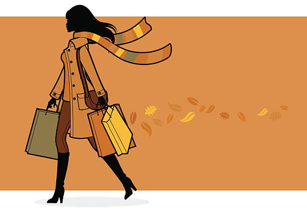 秋のショッパー - 秋のファッション点のイラスト素材/クリップアート素材/マンガ素材/アイコン素材