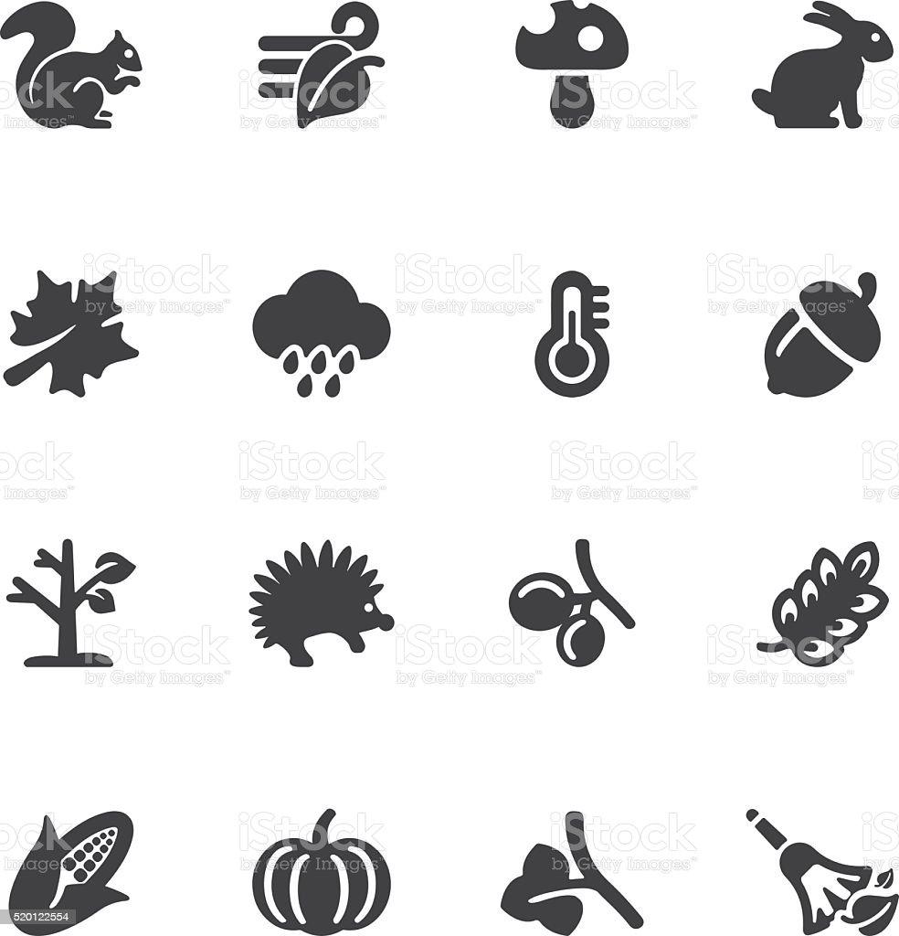 Autumn Silhouette icons | EPS10 vector art illustration
