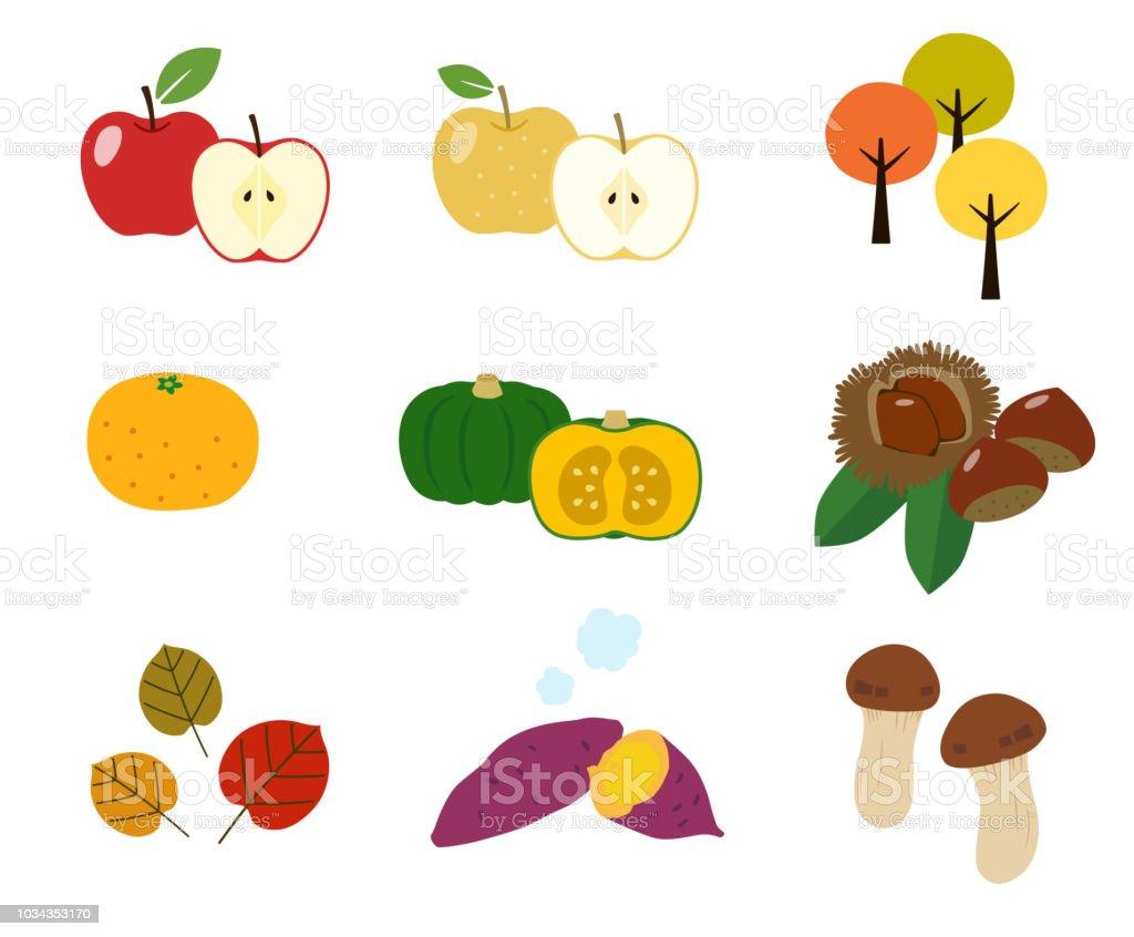 Autumn Taste Autumn Leaves Icon Set Stock Illustration Download Image Now Istock