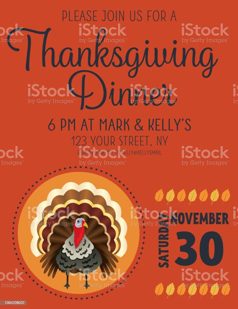 Thanksgiving Dinner Invitation Templates thanksgiving dinner party ...