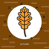 Autumn Thin Line Germany Icon